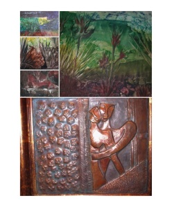 Wax paintings and Copper murals