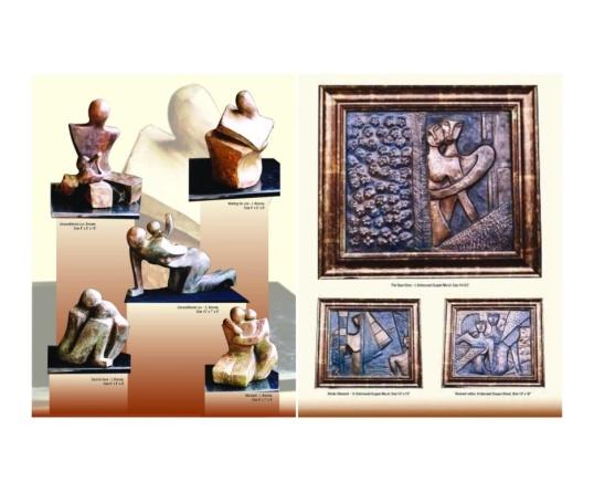 Sculptures and murals