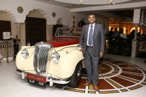 Mr. Madan Mohan, Founder, 21 Gun Salute with newly restored vintage Car- 1952 Daimler DB18 Drophead Coupe