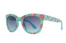 Blue base sunglass with colorful flower print by nau!
