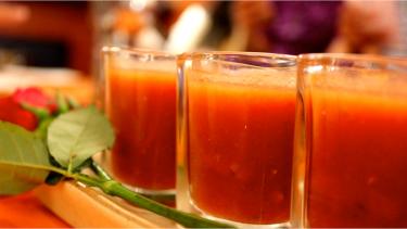 Tomato Gazpacho (cold soup)