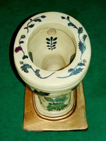 12 Floral Chamber pot of 19th Century