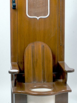 Replica of Kong Louis XIII throne.It is said that the King used to defecate while giving an audience to his people. He used to eat in private and ease himself in public