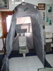 3. Portable Eco-friendly Tent Toilet (PETT) with bio-degradable plastic bags for camping from South Korea
