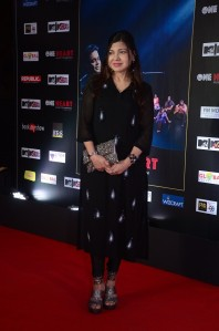 Alka Yagnik at the Mumbai premiere of One Heart