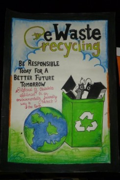 Clean to Green sensitizing school children on the importance of e-waste management