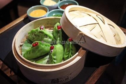 pomengranate dumplings