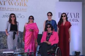 Malini Agarwal, Chetna Sinha, Anita Dongre, Dia Mirza and Deepa Malik at the Launch of the Book Bazaar at Work